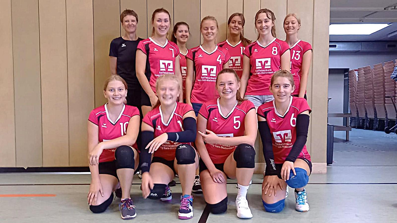 Teamfoto U20 weiblich vom 1. Spieltag (03. Oktober 2021)